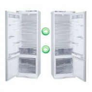 Перенавешивание дверей холодильника без электронного дисплея