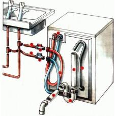 Подключение и установка посудомоечной машины с доработкой канализации, электросети, водоснабжения