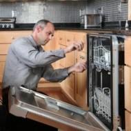 Установка встраиваемой посудомоечной машины (без фасада)